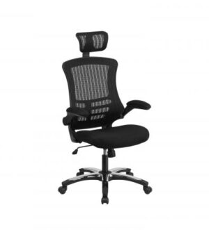 MESH BACK OPERATOR CHAIR WITH HEADREST