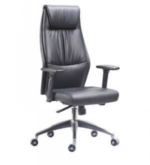 HIGH BACK FAUX LEATHER EXECUTIVE CHAIR IN BLACK